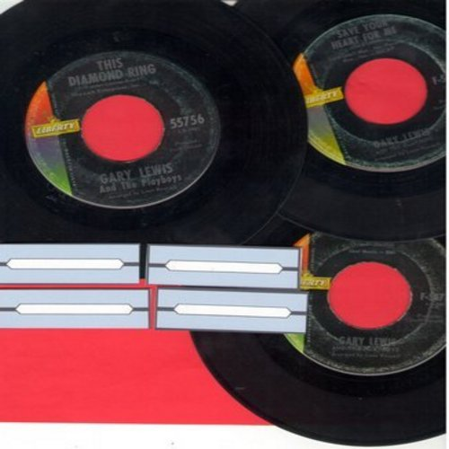 Lewis, Gary & The Playboys - Vintage 3-Pack: First issues in very good or better condition. Hits include This Diamond Ring, Count Me In and Save Your Heart For Me. Shipped in plain white paper sleeves with 4 blank juke box labels. - VG7/ - 45 rpm Records