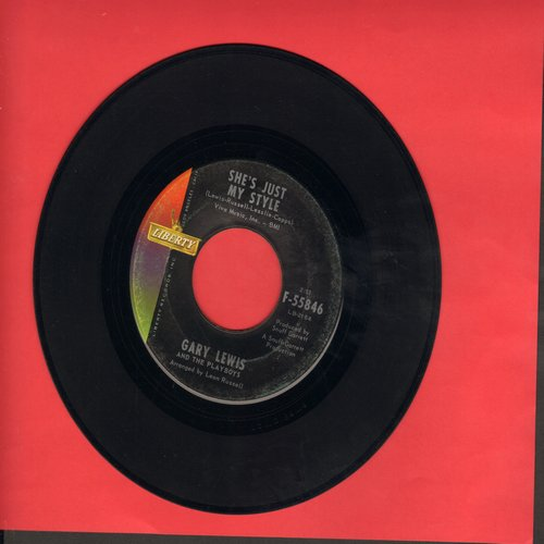 Lewis, Gary & The Playboys - She's Just My Style/I Won't Make That Mistake Again  - EX8/ - 45 rpm Records