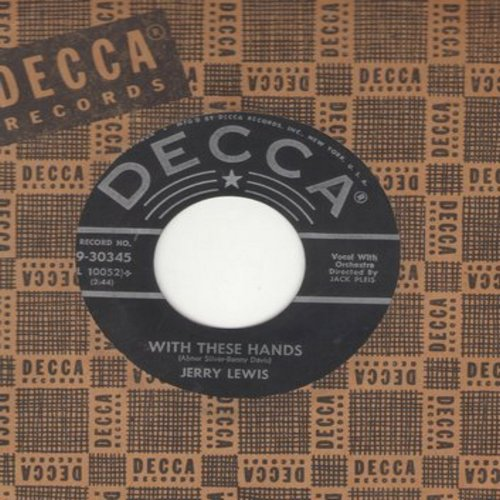 Lewis, Jerry - With These Hands/My Mammy (with vintage Decca company sleeve) - VG7/ - 45 rpm Records
