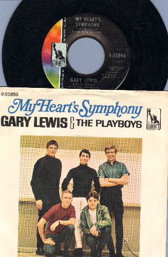 Lewis, Gary & The Playboys - My Heart's Symphony/Tina (MINT condition with picture sleeve) - NM9/EX8 - 45 rpm Records