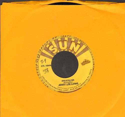 Lewis, Jerry Lee - Breathless/Raunchy (by Bill Justis on flip-side) (re-issue) - EX8/ - 45 rpm Records