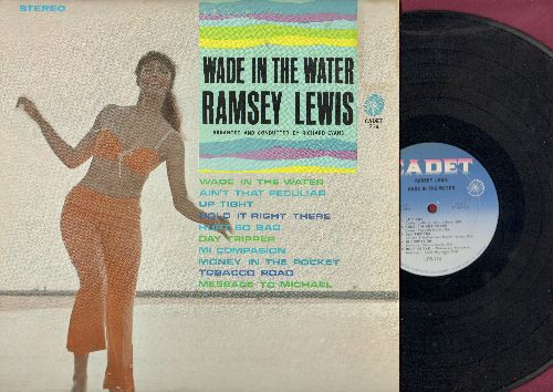 Lewis, Ramsey - Wade In The Water: Up Tight, Ain't That Peculiar, Hurt So Bad, Day Tripper, Tobacco Road (Vinyl STEREO LP record) - NM9/EX8 - LP Records