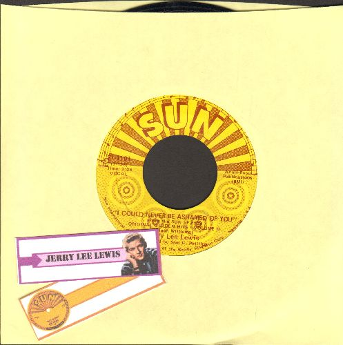Lewis, Jerry Lee - I Could Never Be Ashamed of You/Invitation To Your Party (shipped in plain yellow paper sleeve and 2 blank juke box labels) - NM9/ - 45 rpm Records