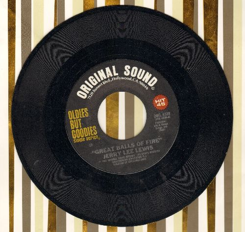 Lewis, Jerry Lee - Great Balls Of Fire/Breathless (double-hit re-issue) - NM9/ - 45 rpm Records