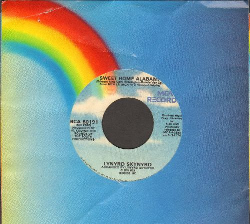 Lynyrd Skynyrd - Sweet Home Alabama/Saturday Night Special (with MCA company sleeve) - VG7/ - 45 rpm Records