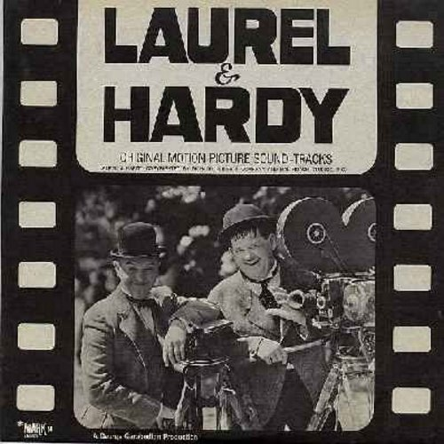Laurel & Hardy - Laurel & Hardy - Original Motion Picture Sound Tracks - Includes audio scenes from films Thicker Than Water, Blockheads, Way Out West, Sons Of The Desert, Helpmates, others! (Vinyl MONO LP record) - NM9/NM9 - LP Records