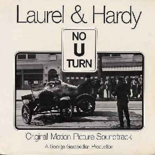 Laurel & Hardy - Laurel & Hardy - No U Turn: Original Motion Picture Sound Track, includes scenes from Saps At Sea, Dirty Work, Music Box, Busy Bodies, County Hospital, more! (Vinyl MONO LP record) - NM9/NM9 - LP Records