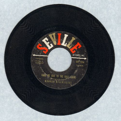 Bunker Hillbillies - Take Me Out To The Ball Game/Little League - EX8/ - 45 rpm Records