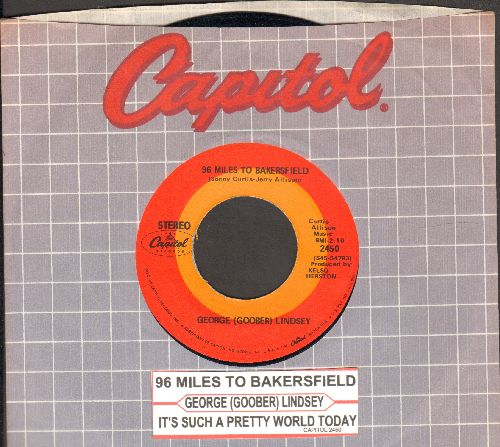 Lindsey, George (Goober) - 96 Miles To Bakersfield/It's Such A Prtty World Today (with Capitol company sleeve) - NM9/ - 45 rpm Records