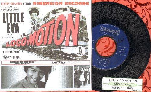 Little Eva - The Loco-Motion/He Is The Boy (with juke box label and repro-picture cover) - EX8/ - 45 rpm Records