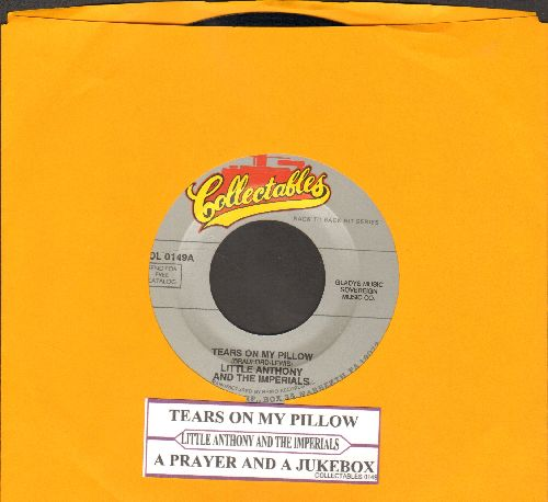 Little Anthony & The Imperials - Tears On My Pillow/A Prayer And A Juke Box (double-hit re-isue with juke box label) - NM9/ - 45 rpm Records