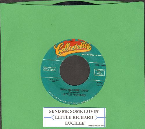 Little Richard - Send Me Some Lovin'/Lucille (double-hit re-issue with juke box label) - EX8/ - 45 rpm Records