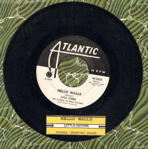 Little Esther - Hello Walls/Double Crossing Blues (DJ advance pressing with juke box label) - VG7/ - 45 rpm Records