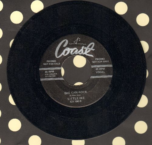 Little Ike - She Can Rock/Is There A Love For Me (by The Dubs on flip-side) (re-issue) - NM9/ - 45 rpm Records