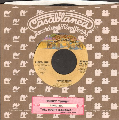 Lipps, Inc. - Funkytown/All Night Dancing (with juke box label and Casablanca company sleeve) - VG7/ - 45 rpm Records