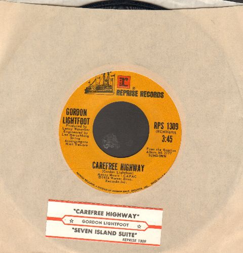 Lightfoot, Gordon - Carefree Highway/Seven Island Suite (with juke box label and company sleeve) - NM9/ - 45 rpm Records