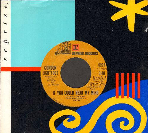 Lightfoot, Gordon - If You Could Read My Mind/Poor Little Allison (with Reprise company sleeve) - EX8/ - 45 rpm Records