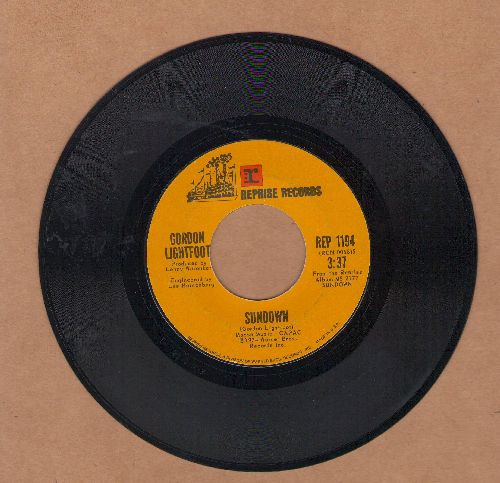 Lightfoot, Gordon - Sundown/Too Late For Prayin' - EX8/ - 45 rpm Records