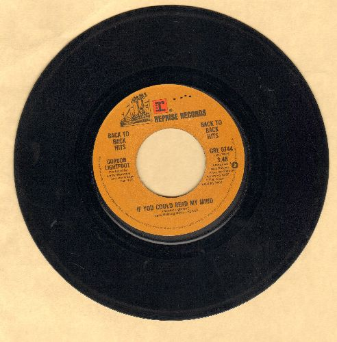 Lightfoot, Gordon - If You Could Read My Mind/Me And Bobby McGee (authentic-looking double-hit re-issue) - G5/ - 45 rpm Records