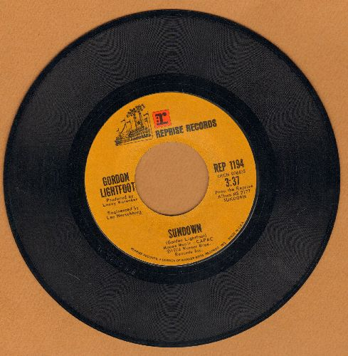 Lightfoot, Gordon - Sundown/Too Late For Prayin'  - NM9/ - 45 rpm Records