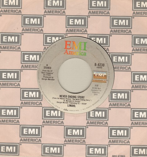 Limahl - Never Ending Story/Ivory Tower (with EMI company sleeve) - EX8/ - 45 rpm Records