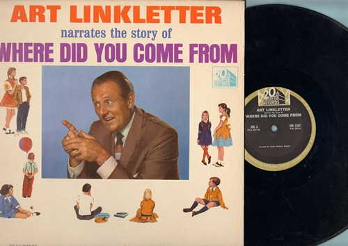 Linkletter, Art - Art Linkletter narrates the story of Where Did You Come From? (Vinyl MONO LP record) - EX8/EX8 - LP Records