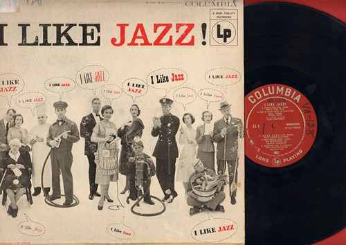 Rose, Wally, Bessie Smith, Louis Armstrong, others - I Like Jazz!: Maple Leaf Rag, Jazz Lips, Home Cooking, I'll Never Be The Same (Vinyl MONO LP record) (wol, sos) - EX8/VG6 - LP Records