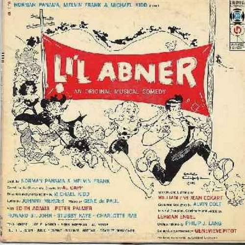 Li'l Abner - Li'l Abner - Original Broadway Cast Recording, featuring Edie Adams, Peter Palmer, Tina Louise, Stubby Kaye and Charlotte Rae. (Vinyl MONO LP record, 1957 first issue) - VG7/VG7 - LP Records