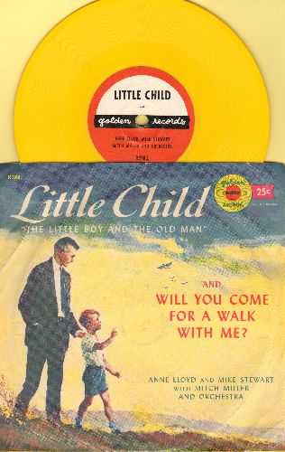 Lloyd, Anne, Mike Stewart, Mitch Miller & Orchestra - Little Child (The Little Boy And The Old Man)/Will You Come For A Walk With Me? (5 inch 78 rpm record with picture sleeve) - NM9/VG7 - 78 rpm