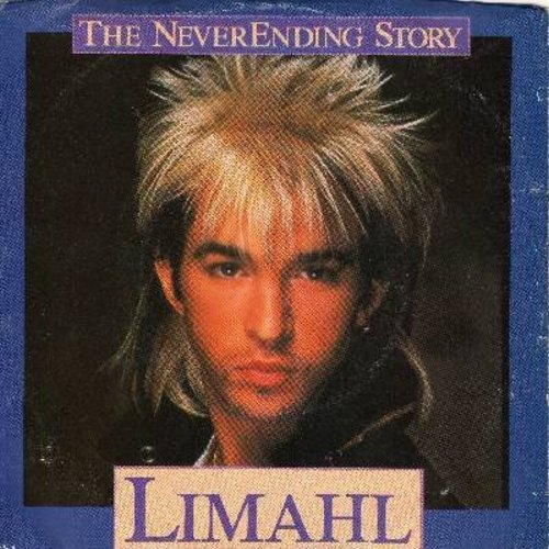 Limahl - Never Ending Story/Ivory Tower (with picture sleeve) - NM9/VG7 - 45 rpm Records