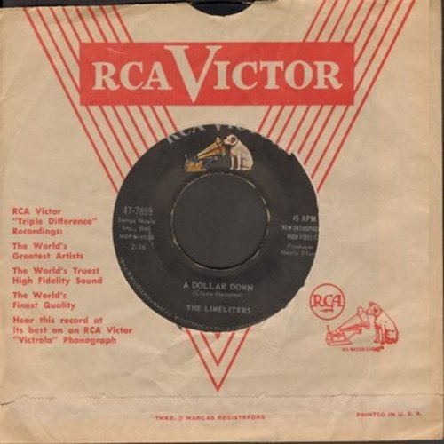 Limeliters - A Dollar Down/When Twice The Moon Has Come And Gone (with juke box label) - NM9/ - 45 rpm Records