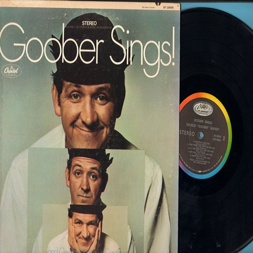 Lindsey, George Goober - Goober Sings!: Good Morning Sunshine, I Ain't Good Looking (But I'm Mighty Sweet), Write Me R.F.D., Moccasin Branch (Vinyl STEREO LP record) - NM9/VG7 - LP Records