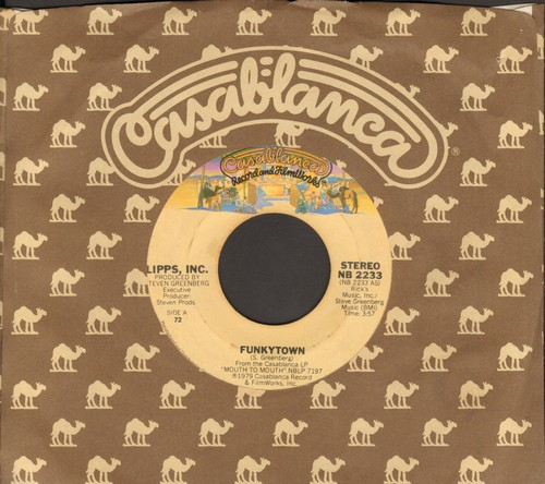 Lipps, Inc. - Funkytown/All Night Dancing (with Casablanca company sleeve) - EX8/ - 45 rpm Records
