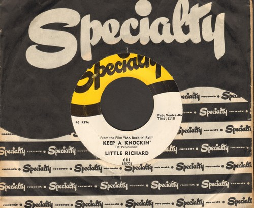Little Richard - Keep A Knockin' (But You Can't Come In)/Can't Believe You Wanna Leave (original first issue with RARE vintage Specialty company sleeve) - EX8/ - 45 rpm Records