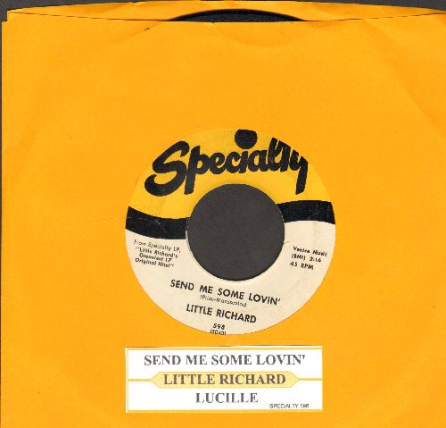 Little Richard - Send Me Some Lovin'/Lucille (with juke box label) - EX8/ - 45 rpm Records