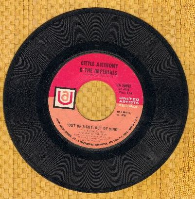 Little Anthony & The Imperials - Out Of Sight, Out Of Mind/Summer's Comin' In - EX8/ - 45 rpm Records