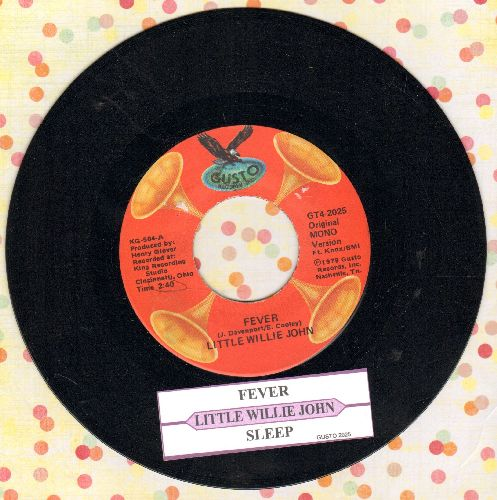 Little Willie John - Fever/Sleep (double-hit re-issue with juke box label) - NM9/ - 45 rpm Records