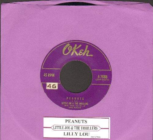Little Joe & The Thrillers - Peanuts/Lilly Lou (purple, with juke box label) - VG7/ - 45 rpm Records