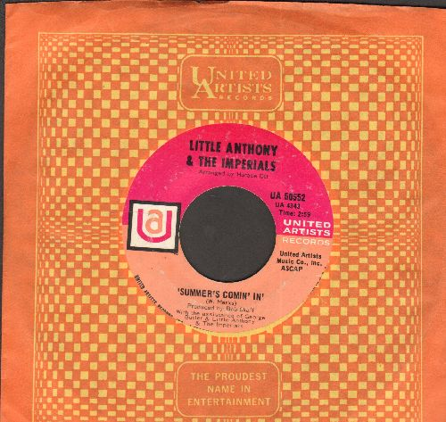 Little Anthony & The Imperials - Out Of Sight, Out Of Mind/Summer's Comin' In (with United Artists company sleeve) - NM9/ - 45 rpm Records
