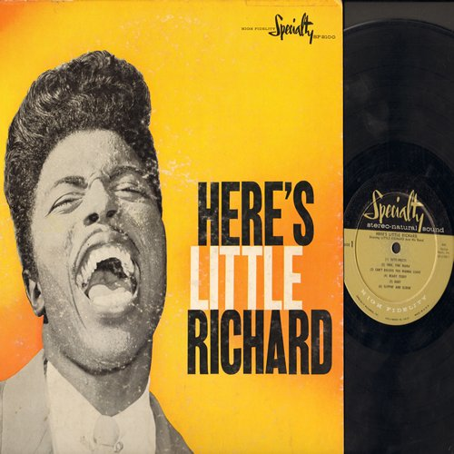 Little Richard - Here's Little Richard: Tutti-Frutti, Ready Teddy, Long Tall Sally, Rip It Up, She's Got It (RARE first pressing) - VG6/VG6 - LP Records