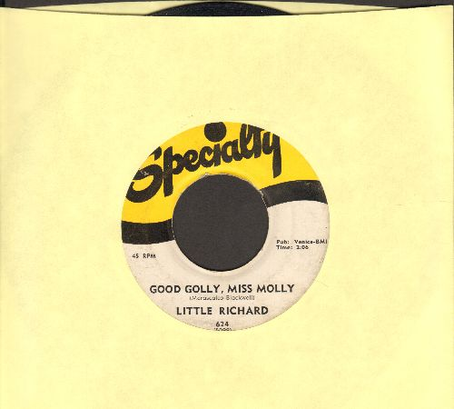 Little Richard - Good Golly, Miss Molly/Hey-Hey-Hey-Hey  - VG7/ - 45 rpm Records