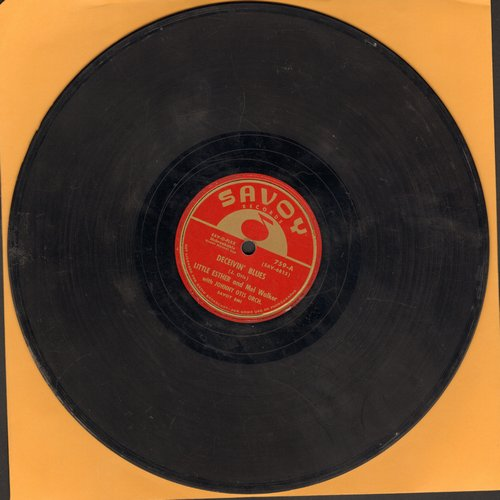 Little Esther & Mel Walker - Deceivin' Blues/Lost Dream Blues - VG6/ - 78 rpm