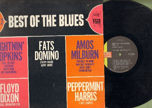Hopkins, Lightnin', Fats Domino, others - Best Of The Blues Vol. 2: Feel So Bad, Every Night, Bewildered, Shot Gun (vinyl STEREO LP record) - NM9/VG7 - LP Records
