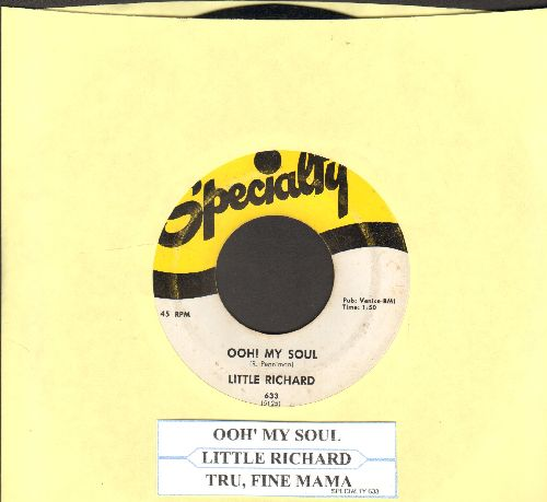 Little Richard - Ooh! My Soul/True, Fine Mama (first pressing with juke box label) - VG7/ - 45 rpm Records