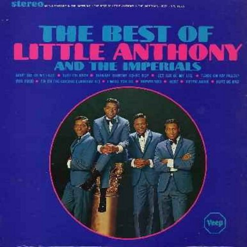 Little Anthony & The Imperials - Best Of: Goin' Out Of My Head, Shimmy Shimmy Ko-Ko Bop, Tears On My Pillow, Our Song, Hurt, I Miss You So (Vinyl STEREO LP record) (reissue) - EX8/VG7 - LP Records