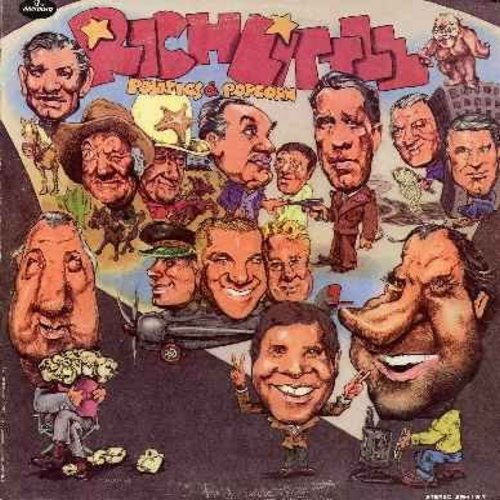 Little, Rich - Politics & Popcorn: Rich Little takes a crack at immitating some of our times' most colorful personalities - 1971 first issue, hilarious comedy & satire! (Vinyl STEREO LP record) - EX8/EX8 - LP Records