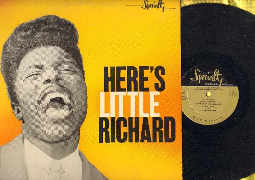 Little Richard - Here's Little Richard: Tutti-Frutti, Ready Teddy, Long Tall Sally, Rip It Up, She's Got It (RARE first pressing) - EX8/EX8 - LP Records