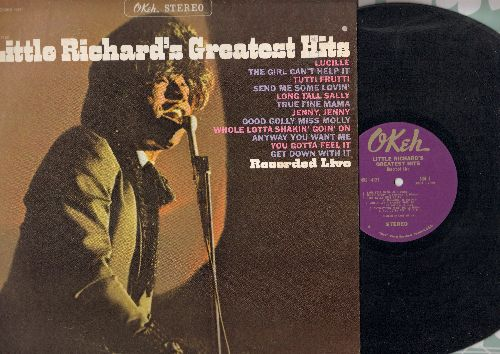 Little Richard - Little Richard's Greatest Hits: Lucille, The Girl Can't Help It, Tutti Frutti, Send Me Some Lovin', Long Tall Sally, Good Golly Miss Molly, Whole Lotta Shakin' Goin' On (Vinyl STEREO LP record) - EX8/EX8 - LP Records
