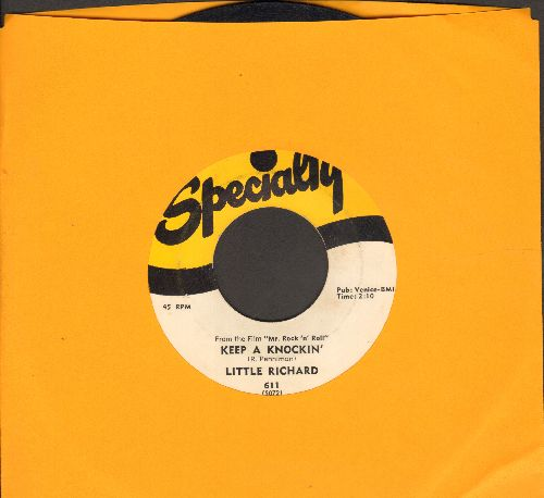 Little Richard - Keep A Knockin' (But You Can't Come In)/Can't Believe You Wanna Leave (original first issue) - EX8/ - 45 rpm Records