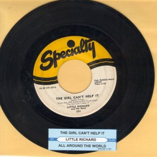 Little Richard - The Girl Can't Help It/All Around The World (with juke box label) - VG7/ - 45 rpm Records
